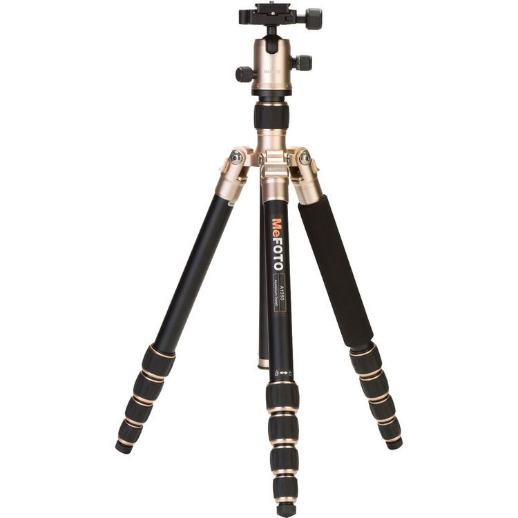 MeFOTO A1350Q1A RoadTrip Aluminum Travel Tripod Kit (Amber)