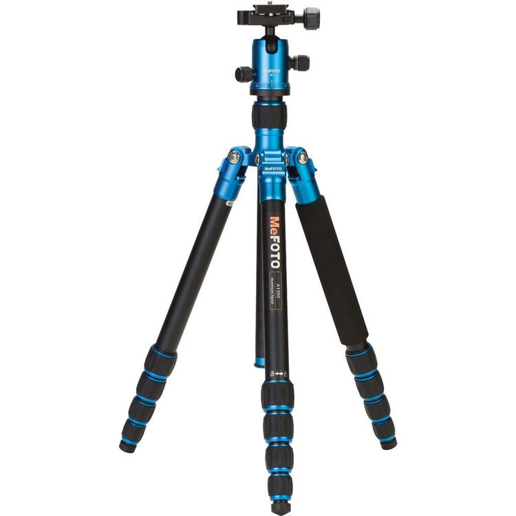 MeFOTO A1350Q1B RoadTrip Aluminum Travel Tripod Kit (Blue)