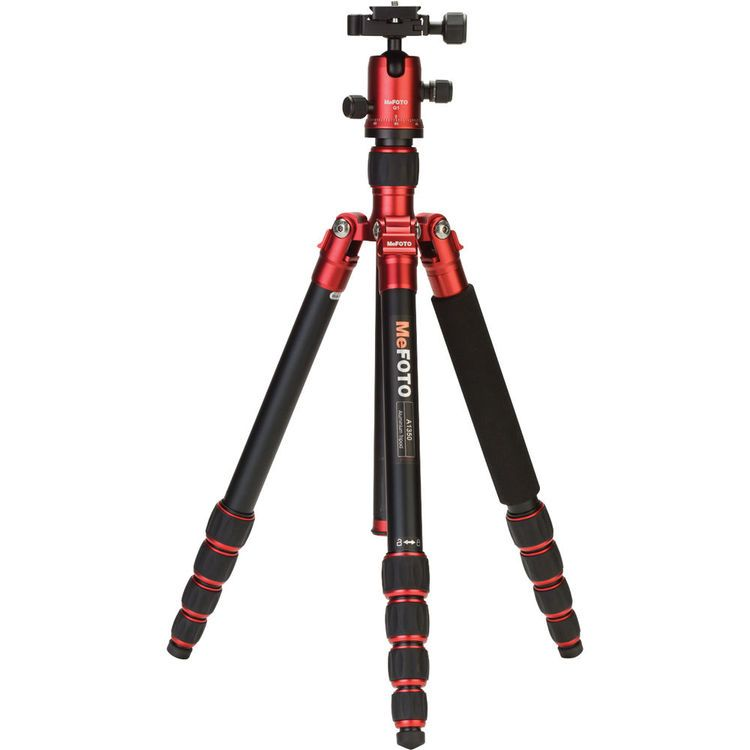 MeFOTO A1350Q1R RoadTrip Aluminum Travel Tripod Kit (Red)