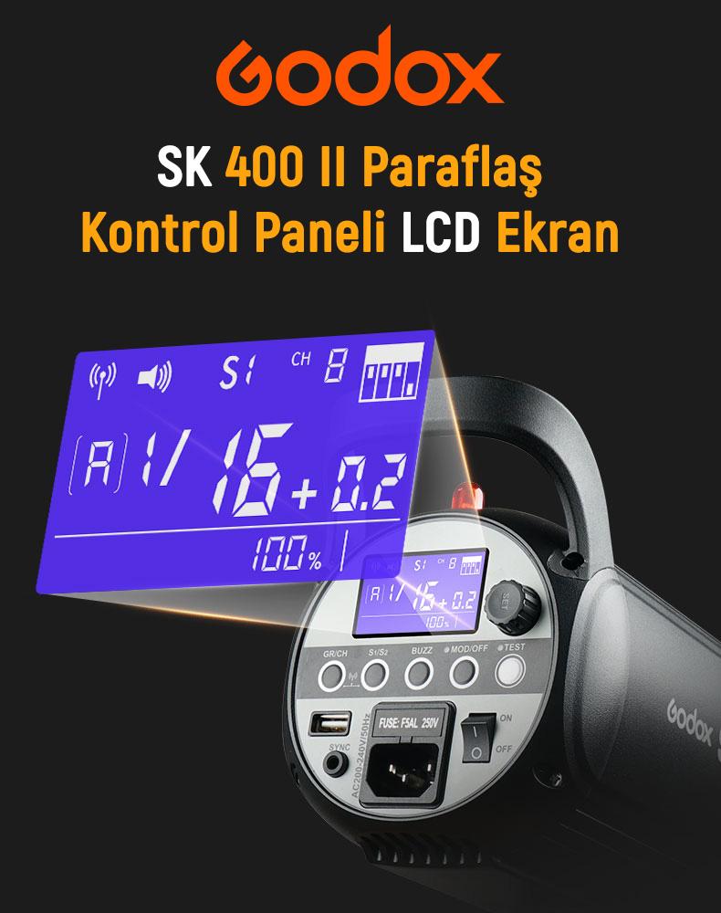 Godox SK400II W/S 3'lü Stüdyo Paraflaş SoftBox Seti