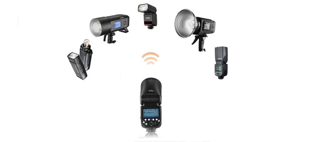 Godox V1 Tepe Flaş Nikon Uyumlu