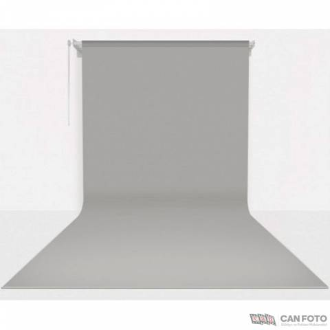 Yalnız Sonsuz Gri Fon Perde 270x580 cm Kumaş