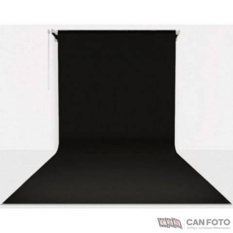 Gdx Sonsuz Siyah Fon Perde (Kumaş) 2.70x5.80 Metre, Boru, Makara, Zincir