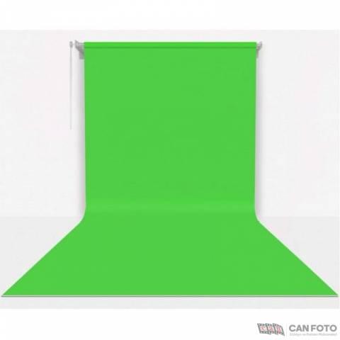 Sonsuz Greenbox, Yeşil Fon, Kumaş Perde 200x400 cm, Boru, Makara, Zincir, Askılık Set