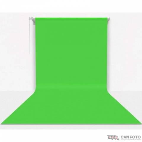 Sonsuz Greenbox, Yeşil Fon, Kumaş Perde 270x580 cm, Boru, Makara, Zincir, Askılık Seti