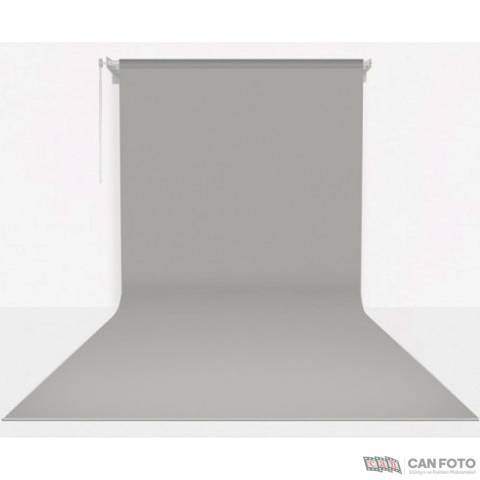 Sonsuz Gri Fon, Kumaş Perde 2.70x5.80 cm, Boru, Makara, Zincir, Askılık Seti