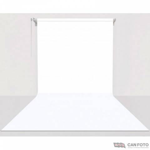 Sonsuz Beyaz Fon, Kumaş Perde 2.70x5.80 cm, Boru, Makara, Zincir, Askılık Set