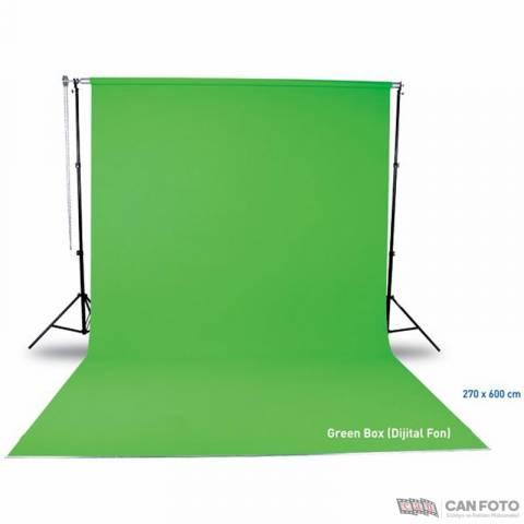 Seyyar Taşınabilir Greenbox, 270x580 cm Fon, Kumaş Perde Sistemi