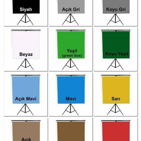 Vesikalık Düz Renk Kumaş Fon Perde 135x190 cm