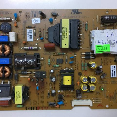 LG 47LA740S LED TV BESLEME KARTI / POWER SUPPLY BOARD FOR LG TV. BOARD NO. EAX64905701 (2.3) / EAY62810901 KOD:LG-231
