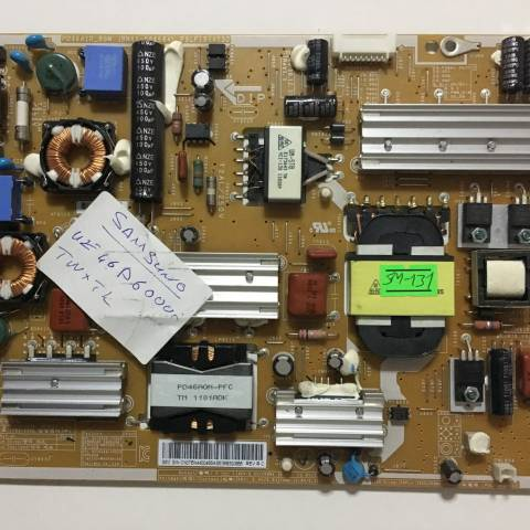 SAMSUNG UE46D6000 LED TV BESLEME KARTI / POWER SUPPLY BOARD FOR SAMSUNG TV. BOARD NO. BN44-00458A ve PD46A1D_BSM