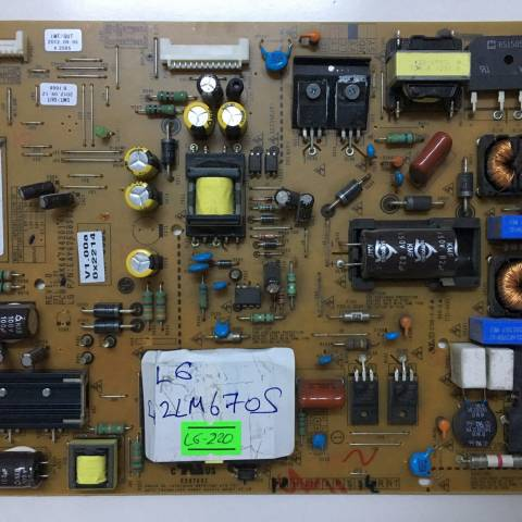 LG 42LM670S LED TV BESLEME KARTI / POWER BOARD FOR LG TV BOARD NO. EAX64744201 (1.3) / EAY6260890