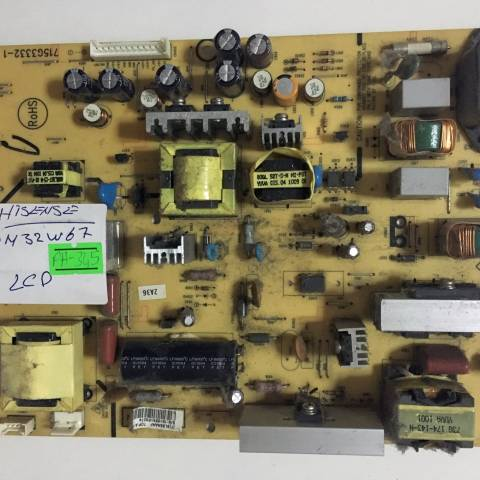 HISENSE LSDN32W67EU LCD TV BESLEME KARTI / POWER SUPPLY BOARD FOR HISENSE TV BOARD NO. 715G3332-1 & (T)9L88AAAF