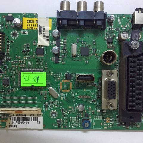 VESTEL 32VH3210 LCD TV ANAKARTI / MAINBOARD FOR VESTEL TV. BOARD NO.S 17MB48-1.1, 10076017, 23079092, 23031105, AUOW04 V3, MB48