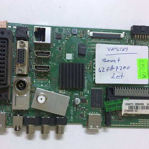 VESTEL 42FA7200 SMART LED TV ANAKARTI / MAINBOARD FOR VESTEL TV. BOARD NO.S 17MB96, 11081 4R2, 10098772, 23290605, 23290609, 27498835, DIJ, 42'' (SKU: VS-565)