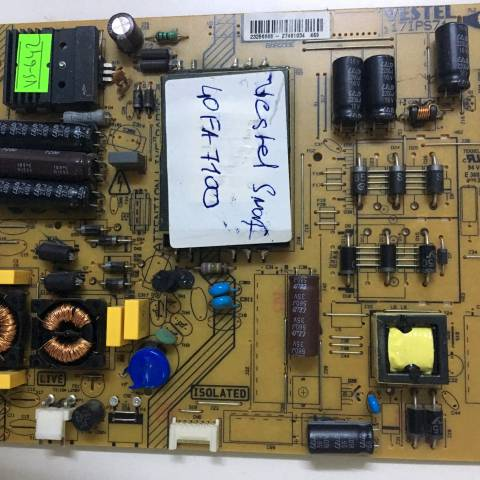 VESTEL 40FA7100 LED TV BESLEME KARTI / POWER BOARD FOR VESTEL TV, BOARD NO.S  17IPS71, 19081 4R4, 23256668, 27461034 (SKU: VS-642)