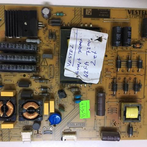 VESTEL 42FA7200 LED TV BESLEME KARTI / POWER BOARD FOR VESTEL TV, BOARD NO.S  17IPS71, 19081 4R4, 23256742, 27498614 (SKU: VS-647)