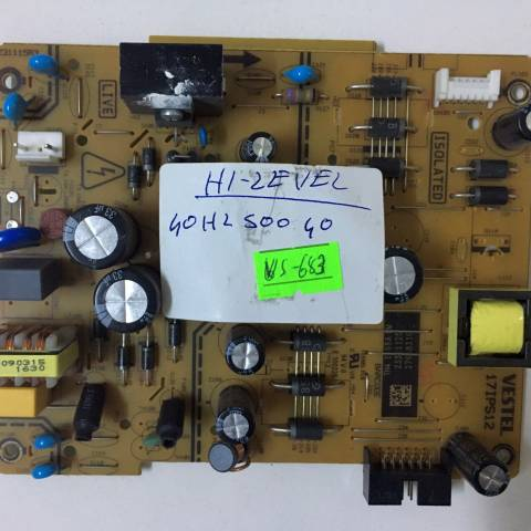 HI-LEVEL 40HL500 LED TV BESLEME KARTI / POWER BOARD FOR HI-LEVEL (VESTEL) TV, BOARD NO.S 17IPS12, 231115R3, 23321125, E 300226