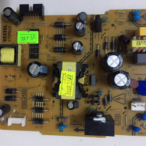HI-LEVEL 50HL500 LED TV BESLEME KARTI / POWER BOARD FOR VESTEL TV, BOARD NO.S  17IPS12, 231115R3, 23321119, E131175 (SKU: VS-686)