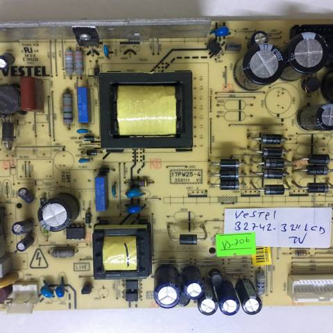 VESTEL 32742 LCD TV BESLEME KARTI / POWER BOARD FOR VESTEL TV, BOARD NO.S  17PW25-4, 250111 V1, 23003513, 23003514, E 300226