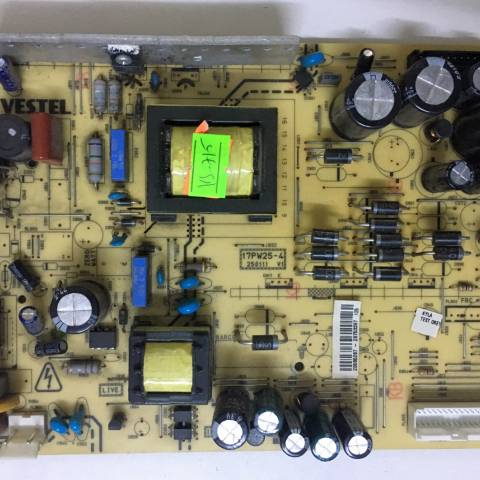 VESTEL LCD TV BESLEME KARTI / POWER BOARD FOR VESTEL TV, BOARD NO.S  17PW25-4, 250111 V1, 20585287, 26753397 (SKU: VS-715)