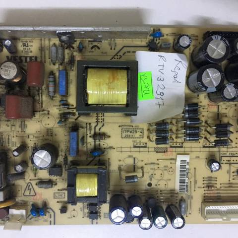 REGAL RTV 32917 LCD TV BESLEME KARTI / POWER BOARD FOR VESTEL TV, BOARD NO.S  17PW25-4, 250111 V1, 23003513, 23003514, E 300226 (SKU: VS-721)