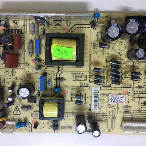 VESTEL 32 INCH LCD TV BESLEME KARTI / POWER BOARD FOR VESTEL TV, BOARD NO.S 17PW25-4, 250111 V1, 23002804, 26848275