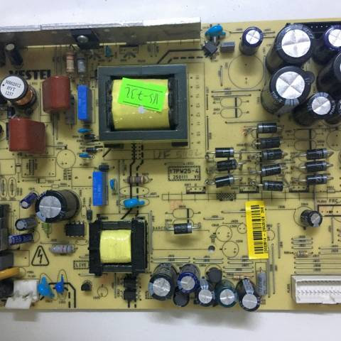 VESTEL LCD TV BESLEME KARTI / POWER BOARD FOR VESTEL TV, BOARD NO.S  17PW25-4, 250111 V1, 23003514, 26935326