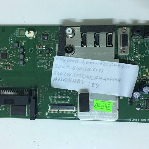 BEKO B40 LB 5533 LED TV ANAKARTI / MAINBOARD FOR ARCELIK & BEKO TV. BOARD NO.S VTY190R-6, V-0, GGR9ZZ, GMW9ZZ, GRUNDIG, NNU9ZZ