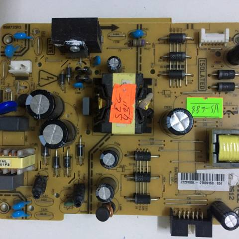 SEG 43SC7600 LED TV BESLEME KARTI / POWER BOARD FOR SEG (VESTEL) TV, BOARD NO.S  17IPS12, 090715R3, 23281584, 27539150