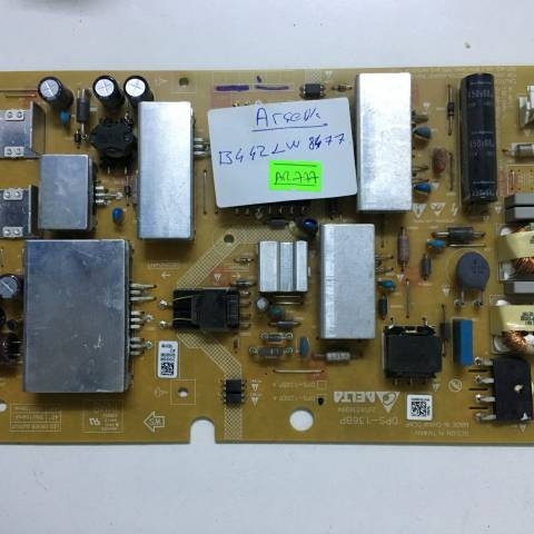 BEKO B42 LW 8477 FULL HD SMART LED TV BESLEME KARTI / POWER SUPPLY BOARD FOR ARCELIK-BEKO TV BOARD NO.S DPS-136BP, DPS-126EP A, 2950339904, ZKK910R, 126EPA