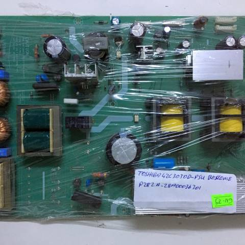 TOSHIBA REGZA 42A3030D FULL HD LCD TV BESLEME KARTI / POWER SUPPLY BOARD FOR TOSHIBA TV. BOARD NO.S PE0282, V28A00036301, PE0282 A