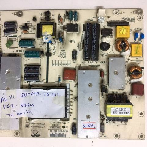 SUNNY SN042LD182VG2-V2FM LED TV BESLEME KARTI / POWER SUPPLY BOARD FOR SUNNY-AXEN TV BOARD NO.S AY136P-4SF01, 3BS0031614, REV:1.0, AY136P-4SF02, AY136P