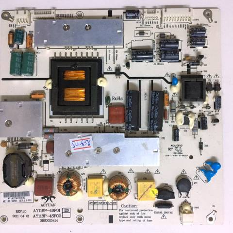 SUNNY SN042DLD12AT022 LED TV BESLEME KARTI / POWER SUPPLY BOARD FOR SUNNY-AXEN TV BOARD NO.S AY118P-4SF01, 3BS0025414, REV:1.0, AY118P, AY118P-4SF02