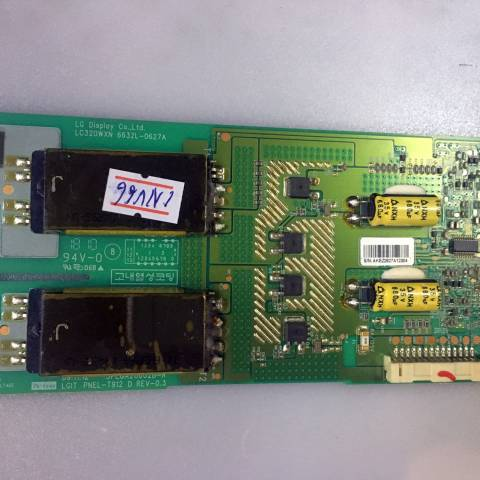 SONY BRAVIA KDL-32BX320 LCD TV ARKA AYDINLATMA İNVERTÖR KARTI / BACKLIGHT INVERTER BOARD FOR SONY TV. BOARD NO.S 6632L-0627A, LC320WXN, 3PEGA20002B-R, LGIT PNEL-T912 D, REV-0.3