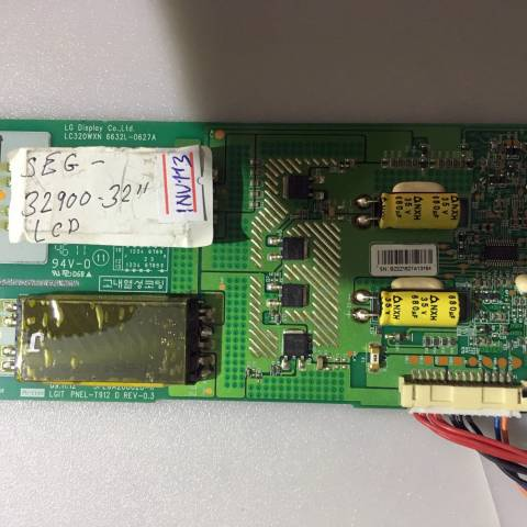 SEG 32900 LCD TV ARKA AYDINLATMA İNVERTÖR KARTI / BACKLIGHT INVERTER BOARD FOR SEG (VESTEL) TV. BOARD NO.S 6632L-0627A, 3PEGA20002B-R, LGIT PNEL-T912 D, REV-0.3, LC320WXN