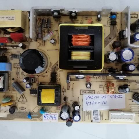 VESTEL 42VF8022 3D FULL HD LCD TV BESLEME KARTI / POWER BOARD FOR VESTEL TV, BOARD NO.S  17PW26-5, 20487733, 26883298, 2683843, 30060103