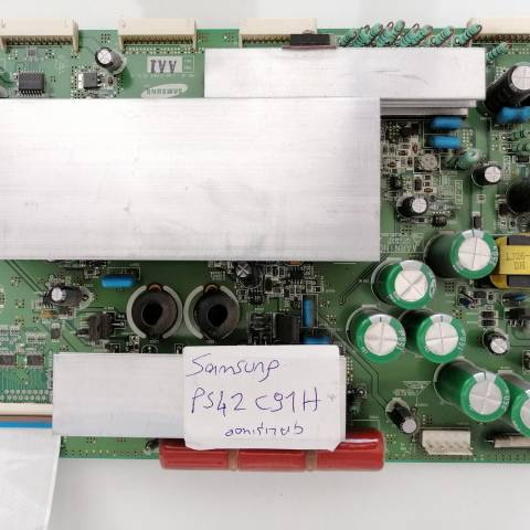 SAMSUNG PS42C91HX PLAZMA TV Y-SUS KARTI / Y-MAIN BOARD FOR SAMSUNG PLASMA TV. BOARD NO.S LJ41-05134A, LJ92-01494A, 42HD W2 PLUS