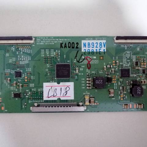 LG 42LV3550 FULL HD LED TV T-CON KARTI / LOGIC BOARD FOR LG LED TV. BOARD NO.S 6870C-0401C, 32-37-42-47-55 FHD TM120, VER 0.3, 6871L-2981E, 2981E1