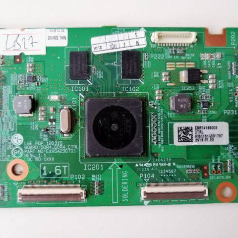 LG 50PM6800 3D SMART PLAZMA TV T-CON KARTI / LOGIC BOARD FOR LG PLASMA TV. BOARD NO.S EBR74185002, EAX64290701, REV: 1.1, 50R4_60R4_CTRL