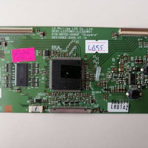 BEKO F BS94 LCD TV T-CON KARTI / T-CON (LOGIC) BOARD FOR BEKO LCD TV. BOARD NO.S 6870C-0060F, 6871L-0801A, LC320W01, LC370WX1, 0801A
