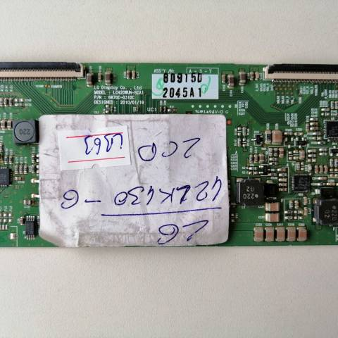 LG 42LK430 LCD TV T-CON KARTI / T-CON (LOGIC) BOARD FOR LG LCD TV. BOARD NO.S 6870C-0310C, 6871L-2045A, LC420WUN-SCA1, 2045A