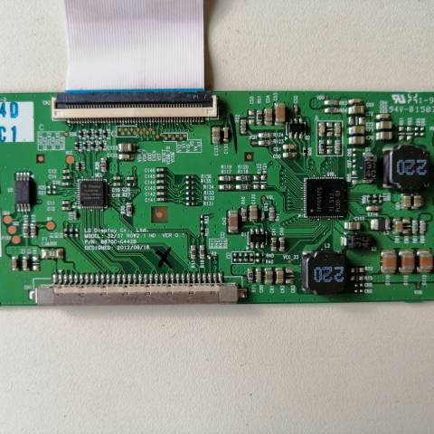 VESTEL 32742 LCD TV T-CON KARTI / T-CON (LOGIC) BOARD FOR VESTEL LCD TV. BOARD NO.S 6870C-0442B, 32/37 ROW2.1 HD, VER 0.1, 6871L-3203C, 3203C