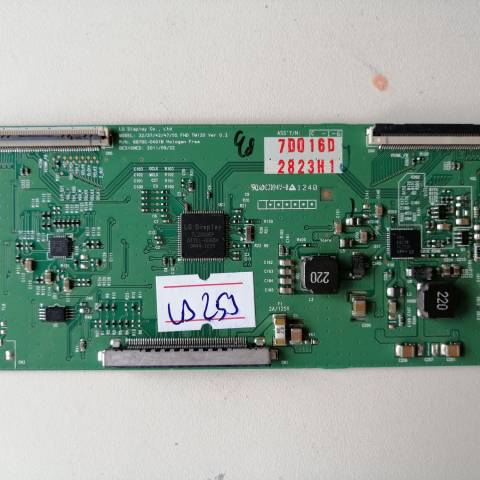 PHILIPS 42PFL3507 LED TV T-CON KARTI / T-CON (LOGIC) BOARD FOR PHILIPS LED TV. BOARD NO.S 6870C-0401B, VER 0.2, 32/37/42/47/55 FHD TM120, 6871L-2823H, 2823H