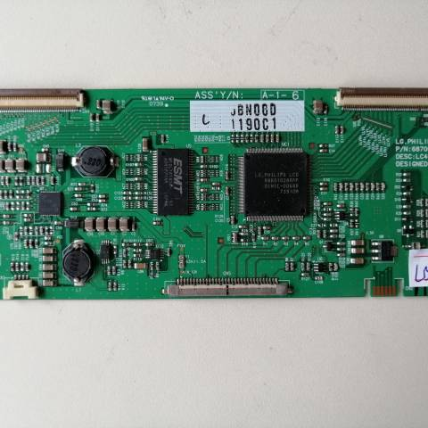 TOSHIBA 42C3005PG LCD TV T-CON KARTI / T-CON (LOGIC) BOARD FOR TOSHIBA LCD TV. BOARD NO.S 6870C-0163A, VER 1.0, 6871L-1190C, LC420WX8, 1190C
