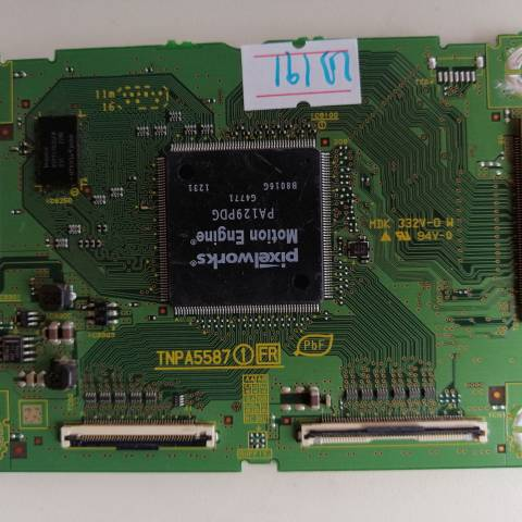 PANASONIC TX-L42ET5E LED TV T-CON KARTI / T-CON (LOGIC) BOARD FOR PANASONIC LED TV. BOARD NO.S TNPA5587 1 FR, TXNFR1TLUB, TNPA5587