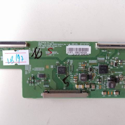 VESTEL 42FA8200 3D SMART LED TV T-CON KARTI / T-CON (LOGIC) BOARD FOR VESTEL LED TV. BOARD NO.S 6870C-0469A, V14 42 DRD TM120, CONTROL_VER 1.4B, 6871L-3398E, 3398E