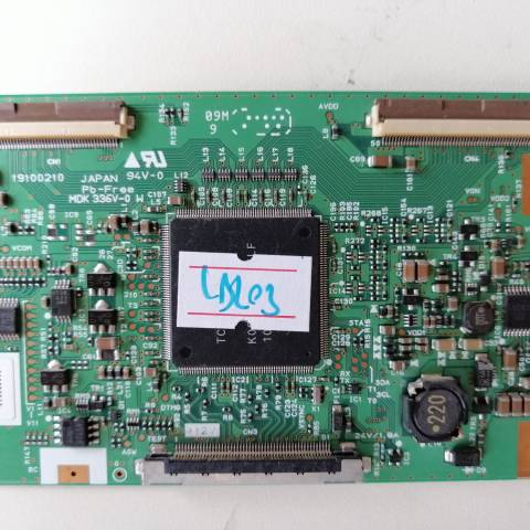 LG 32LD350 LCD TV T-CON KARTI / T-CON (LOGIC) BOARD FOR LG LCD TV. BOARD NO.S MDK336V-0 W, 19100210, MDK336V-0, MDK336V
