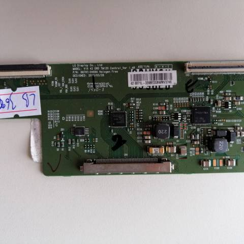 SUNNY SN042DLD12AT050-A3DFM FHD LED TV T-CON KARTI / T-CON (LOGIC) BOARD FOR SUNNY LED TV. BOARD NO.S 6870C-0469A, V14 42 DRD TM120, CONTROL_VER 1.4B, 6871L-3398E, 3398E