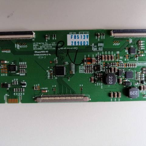 PREMIER PR 32B30 LED TV T-CON KARTI / T-CON (LOGIC) BOARD FOR PREMIER LED TV. BOARD NO.S 6870C-0414A, LC320EXN-SEA1-K31, 6871L-2896E, 2896E
